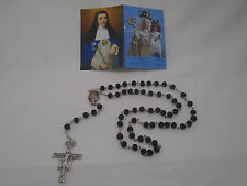 Our Lady Of Good Success Catholic Black Rose Scent Wood Rosary Ecuador Prayer