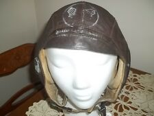 WW2 United States AAF Type A-11 Flight Helmet-M All Original The Selby Company