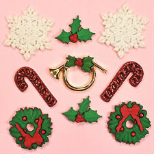 DRESS IT UP Embellishments Deck The Halls 0266 - Bugle Snowflakes Christmas
