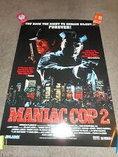 MANIAC COP 2 - ORIGINAL SS ROLLED HOME VIDEO POSTER
