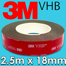 Genuine 3M VHB 5952 Super-Strong Double-sided Bonding Tape 2.5m x 18mm from AU