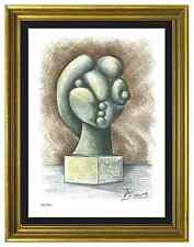 "Pablo Picasso Signed/Hand-Number Ltd Ed ""Sculpture Head""  Litho Print (unframed)"