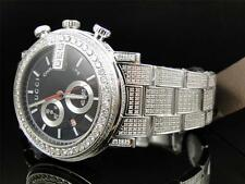 "Custom Mens New Gucci ""G"" Chrono 101 G 14 CT Black and White Diamond YA101331"