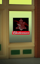 """BUDWEISER BEER EAGLE  WINDOW SIGN -CAN BE TRIMMED AS SMALL AS O.9"""" W X 0 .85"""" T"""