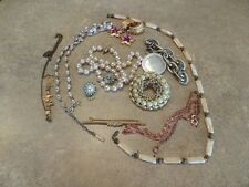 Small Damaged Jewelry Lot For Parts Repairs or Crafting S2