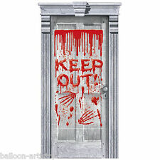 1.65m Halloween Horror Keep Out Bloody Door Gore Banner Poster Decoration