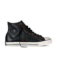 NIB $80 Converse CT Double Zip Hi Leather Black 140001C US Mens 11.5
