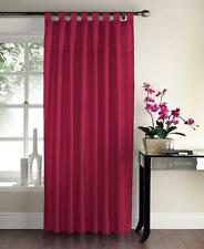 "Sequin Embroidered Taffeta Tab Top Faux Silk Curtain Panel 57 x 90"" Drop"