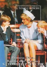PRINCESS DIANA WILLIAM HARRY S TOME E PRINCIPE 1997 MNH STAMP SHEETLET