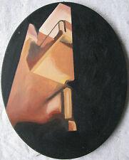 Adriana CIVITARESE Agresti (Chieti 1968) Sculture surreali olio tela ovale 30x24