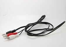E-3.5mm To 2 RCA Audio Speaker Adapter Cable Cord For Kindle Nook Tablet eReader