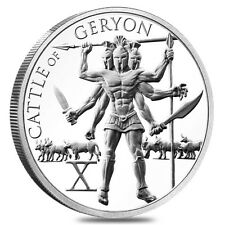 """The 12 Labors Of Hercules """"Cattle Of Geryon"""" 1 oz .999 Silver BU Round USA Coin"""