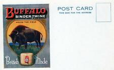 Buffalo Binder Twine Poster Advertising British Made unused old postcard Good