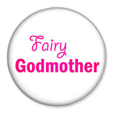"Fairy Godmother 25mm 1"" Pin Badge Button Christening Godparent Church Communion"