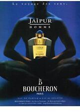PUBLICITE 2000    BOUCHERON  JAIPUR HOMME  boutique parfums