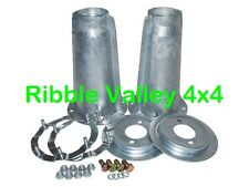 LAND ROVER DEFENDER 90 110 GALVANISED SHOCK TURRETS WITH FITTING KIT DA1186