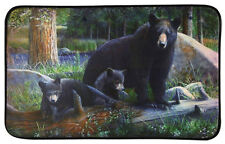 BLACK BEAR & Cubs Microfiber MEMORY FOAM Bath MAT Lodge CABIN Bathroom DECOR