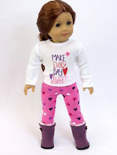 "Make everyday sweet outfit 18"" doll clothing fits American girl"