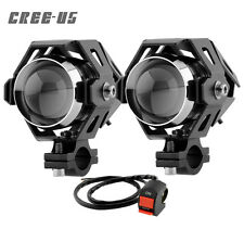 2PCS CREE U5 LED Motorcycle Fog Light With Switch 125W 3000LM for ktm duke