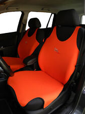 2 ORANGE FRONT VEST T-SHIRT CAR SEAT COVERs PROTECTORS FOR Honda Jazz