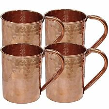 Hammered Copper Moscow Mule Mug Drinkware ,Set of 4