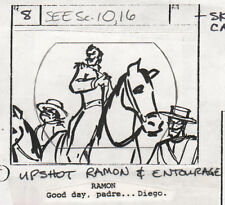 Zorro 1981 Production Storyboard hand drawing animation art Filmation Ep. 9 p2 a