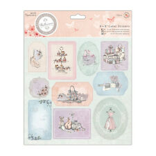 PAPER MANIA BELLISIMA COLLECTION 8 X 8 LABEL STICKERS  FOR CARDS AND CRAFTS