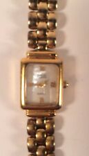 Anne Klein BRACELET WATCH rotates to either SILVER or GOLD band women's
