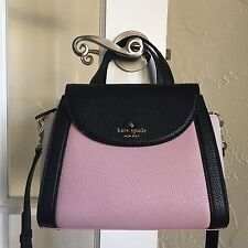 Kate Spade Cobble Hill Small Adrien Satchel Pink Granite Multi Black PXRU6475