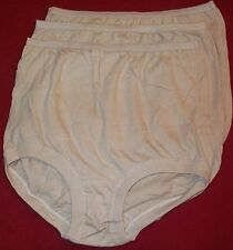 3 Pair 100% COTTON  BAND LEG PANTY Size 10 Beige USA Made Close OUT!