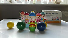 orange tree toys family skittles Hand Painted Children's wooden skittles vintage