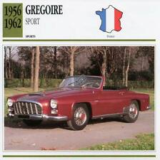 1956-1962 GREGOIRE Sports Classic Car Photo/Info Maxi Card