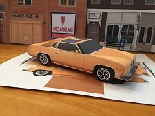 Papercraft Pontiac Grand Prix T-Top Paper Car EZU-build 1975 Toy Model Car