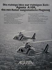 5/1977 PUB AGUSTA A109 HELICOPTER HUBSCHRAUBER ORIGINAL GERMAN AD