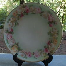 Fancy J & C, Hand-painted GHB Roses Garland Plate Bavaria