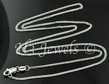 1.90 grams 18k solid white gold foxtail wheat chain necklace 18  inches fox tail