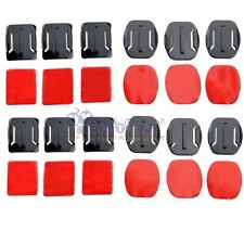 12pcs Helmet Accessories for 3M Flat Curved Adhesive Mount For Gopro