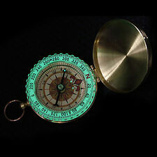 Pocket Brass Watch Ring KeyChain Camping Outdoor Compass Navigation Ornate Best