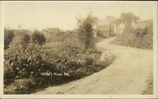 Webb's Webbs Mills ME Road & Bldgs c1915 Real Photo Postcard