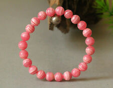 Natural Rose Rhodochrosite Argentina Gemstone Round Beads Bracelet 7mm