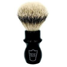 Parker Handmade Black Handle Deluxe 100% Silvertip Badger Long Mug Shave Brush