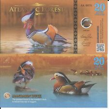 ATLANTIC FOREST BILLETE 20 AVES DOLLARS 2016