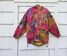 VINTAGE 1990'S EMMEGI WOMEN'S MULTI PRINT SKI JACKET MEDIUM MADE IN AUSTRIA
