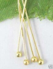 400pcs Golden plated copper solid ball head pin 18mm