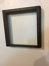 Antique 1900s SUNSHINE BISCUIT HINGED TIN BOX LID Picture Frame