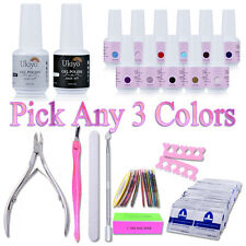 Ukiyo Any 3 Colors UV Gel Nail Polish Top Base Coat Gel Remover Manicure Kit Set