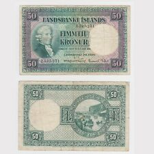 ICELAND - 50 KRONUR DATED 1928 - Pick ref: 34a - F condition