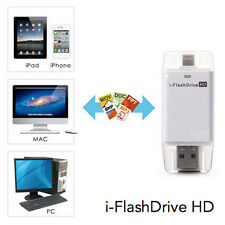 USB i-Flash Drive HD Micro SD/TF Memory Card Reader Adapter For iPhone iPad PC