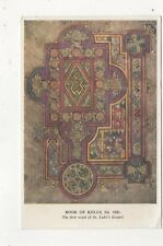 Book Of Kells First Word Of St Lukes Gospel Postcard 587a