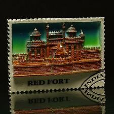 Poly Marble Red Fort Fridge Magnet Indian Collectibles Souvenir Refrigerator